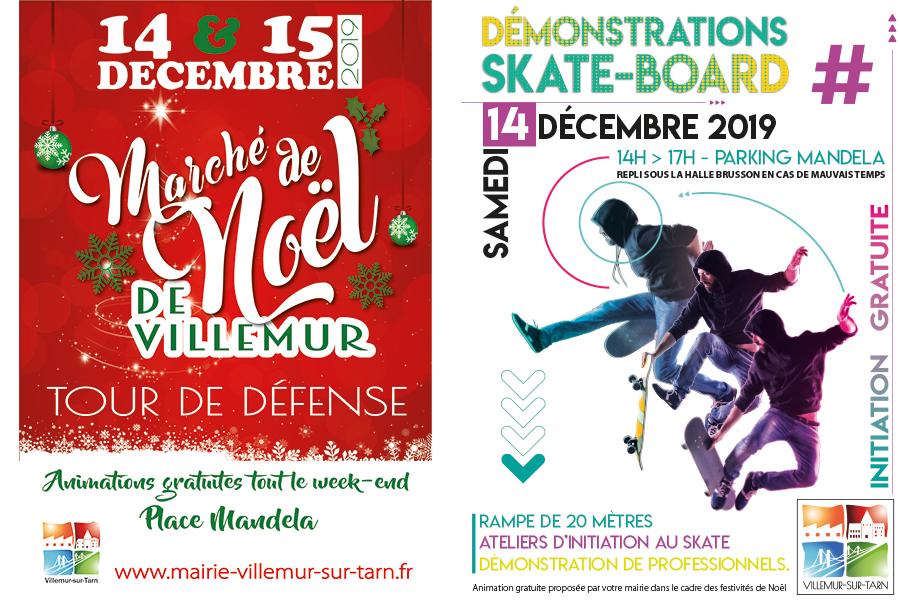 14 & 15 DÉCEMBRE : le programme des festivités de Noël à Villemur !