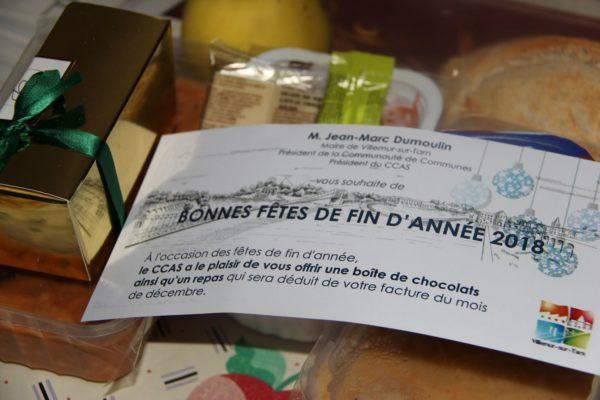 Portage à domicile : des chocolats pour les bénéficiaires !