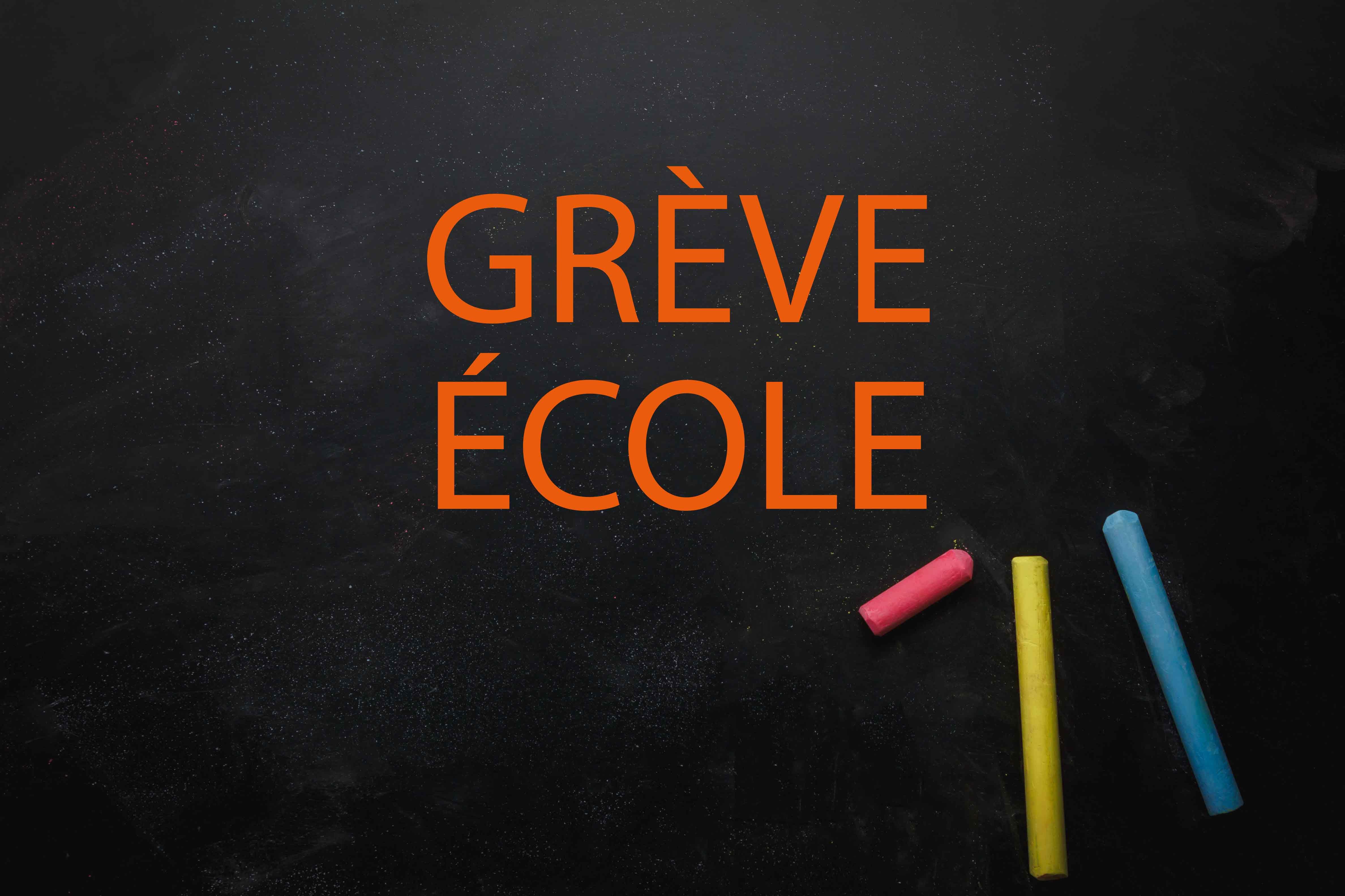 Grève école vendredi 24 janvier : fermeture des écoles élémentaires / pas de cantine en maternelle