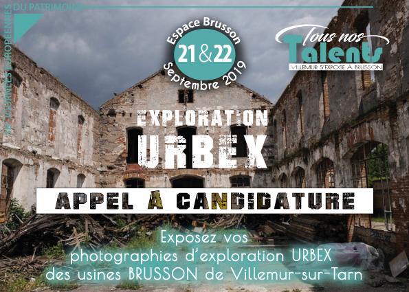 Exposez vos photographies d'exploration URBEX des usines BRUSSON lors des Journées du Patrimoine !