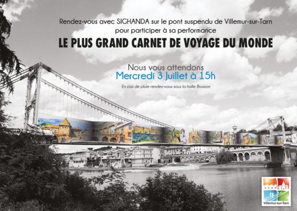 Le 3 juillet : venez participer au plus grand carnet de voyage du monde sur le pont suspendu !