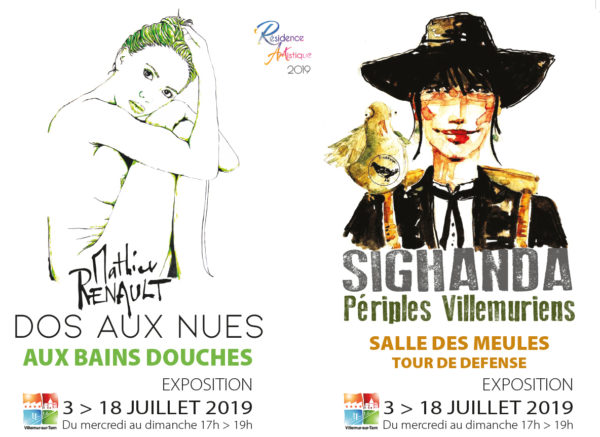 Restitution de résidence : 2 expositions de Mathieu Renault et Sighanda