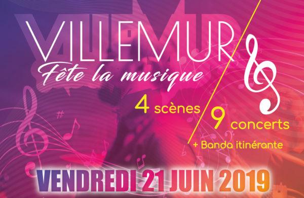 Villemur fête la musique : 4 scènes et 9 concerts en centre-ville le 21 juin