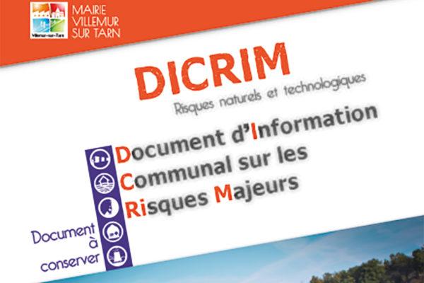 Le DICRIM de Villemur choisi pour illustrer un manuel de CAP !