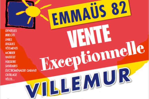EMMAÜS : vente exceptionnelle ce week-end à la halle Brusson