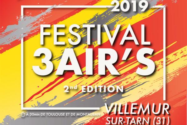 Festival 3 aiR's : 2e édition sous la Halle Brusson les 18, 19 et 20 octobre !