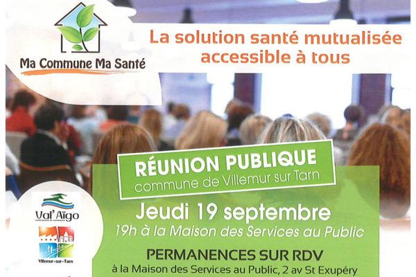 «Ma commune ma santé » : nouvelles permanences et réunion publique le 19 septembre