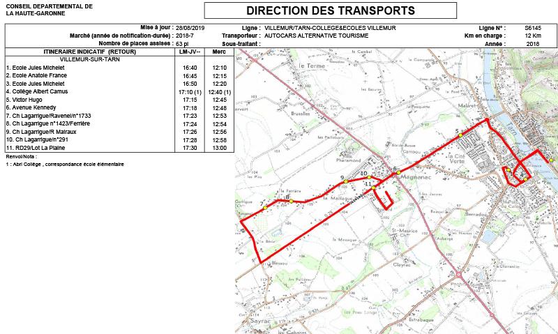 Transports Scolaires Mairie Villemur Sur Tarn