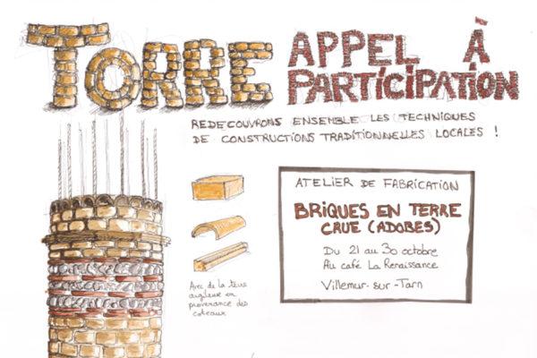 Appel à participation : ateliers de fabrication de  briques en terre crue avec Mathilde Leveau