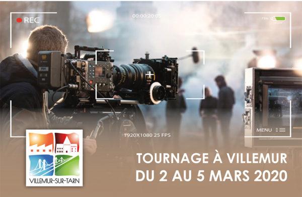 Tournage à Villemur du 2 au 5 mars : le détail des modifications de stationnement et circulation