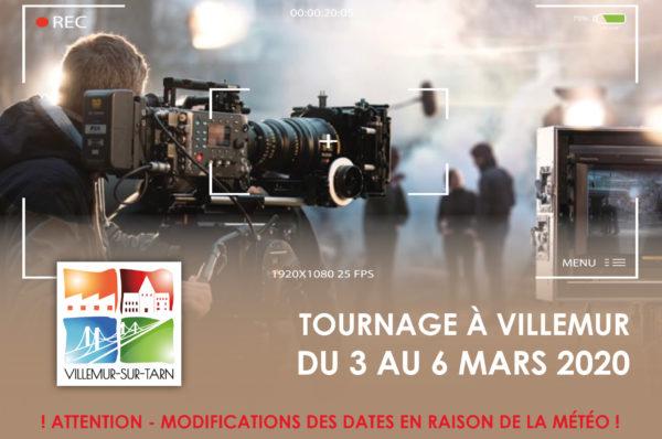 Tournage à Villemur : modification des dates en raison de la météo