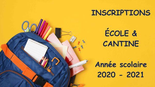 Rentrée 2020-2021 : les dossiers d'inscription à l'école et à la cantine sont en ligne