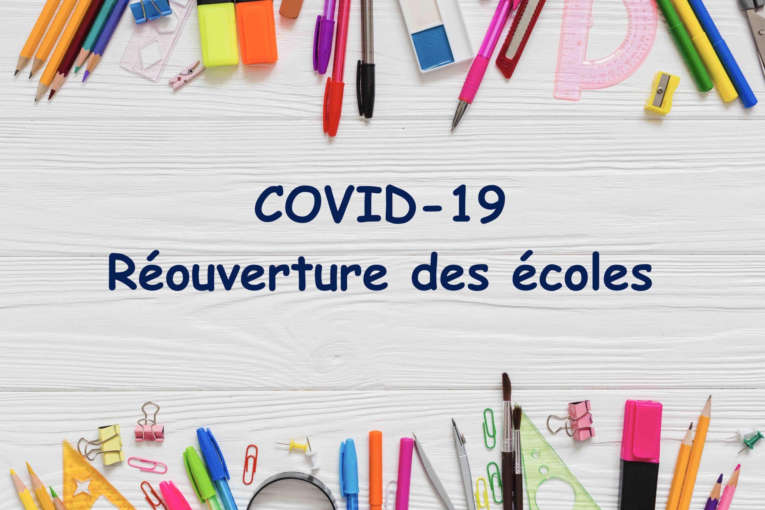 COVID-19 : modalités de réouverture des écoles à Villemur