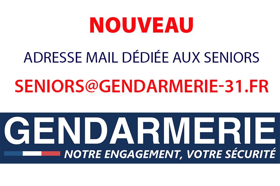 La gendarmerie de Haute-Garonne crée une adresse mail dédiée pour les séniors
