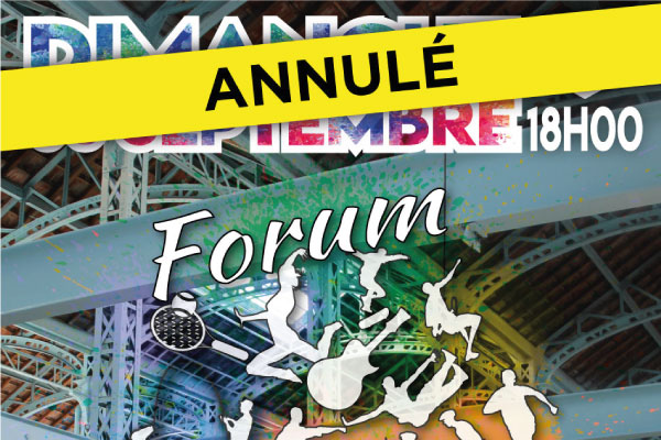 !! ANNULATION DU FORUM DES ASSOCIATIONS !!