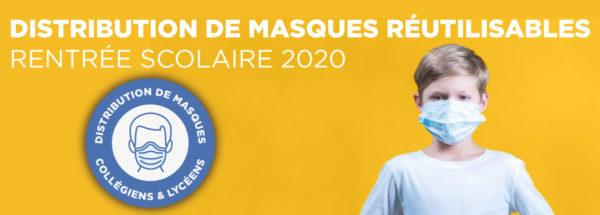 [COVID-19] Distribution en mairie de masques réutilisables pour les élèves à partir du collège