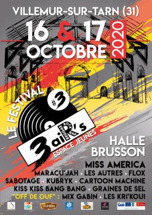 Festival 3 aiR's : 3ème édition sous la Halle Brusson les 16 et 17 octobre !