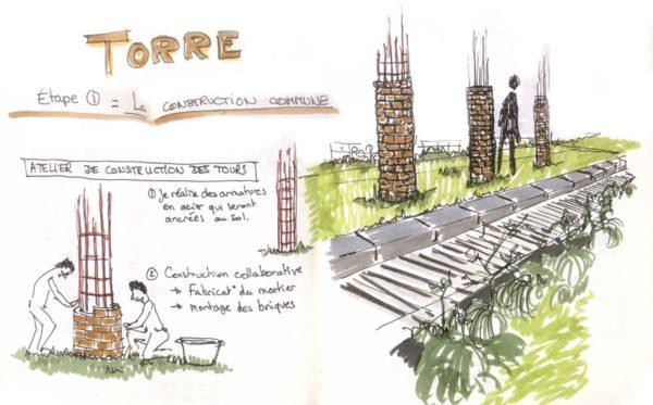 """Deuxième étape du  projet """"TORRE"""" de Mathilde  Leveau"""