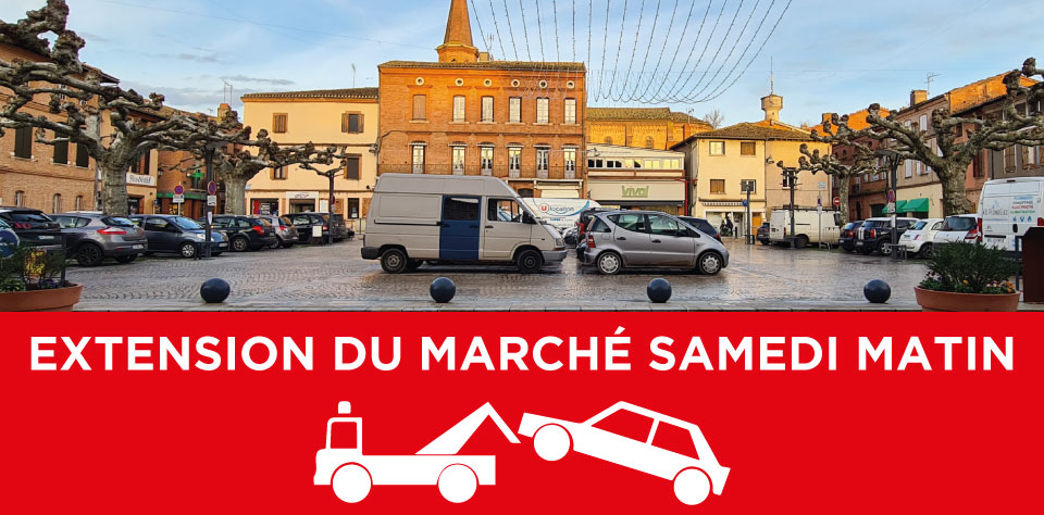 EXTENSION MARCHÉ SAMEDI – PARKING PLACE CHARLES OURGAUT