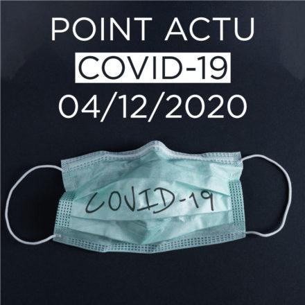 Point actualité COVID 04/12/2020 – Commerces, activités sportives, soutien psychologique…