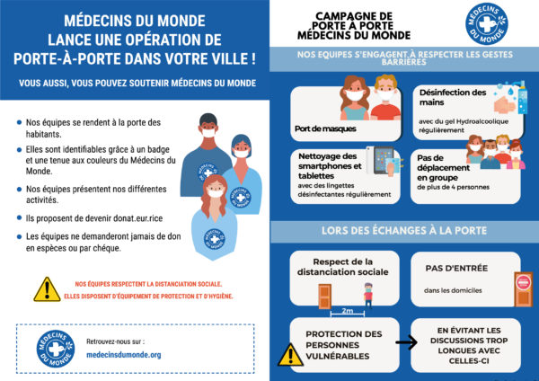 Campagne porte à porte Médecins du Monde