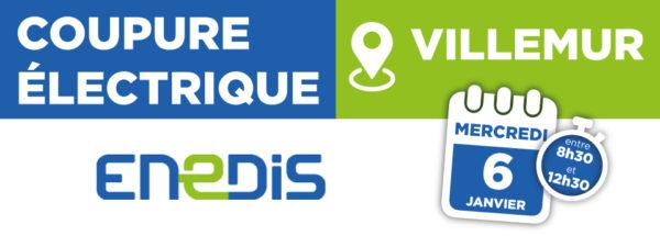 Coupure électrique 06/01/2021 – Villemur