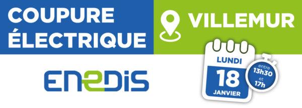 Coupure électrique 18/01/2021 – Villemur