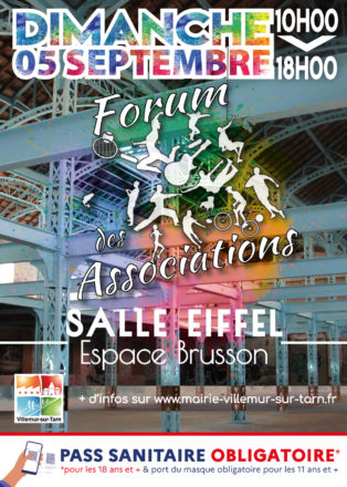 Forum des associations – Dimanche 05 Septembre 2021