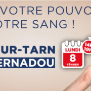 Don de sang lundi 8 février I Salle Bernadou
