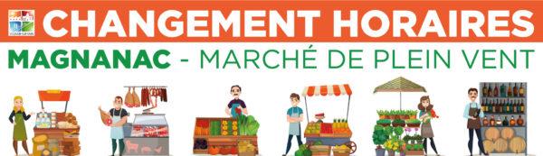 Changement des horaires du Marché de Magnanac