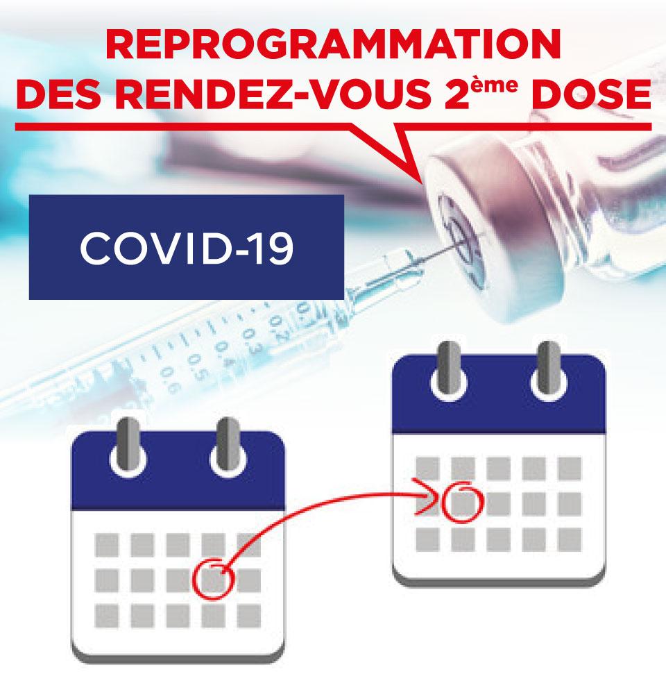 REPORT DES RENDEZ-VOUS | CENTRE DE VACCINATION | COVID-19