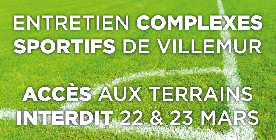 ACCÈS INTERDIT – STADES DE VILLEMUR – 22 & 23 mars 2021