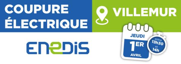 Coupure électrique 01/04/2021 – Villemur