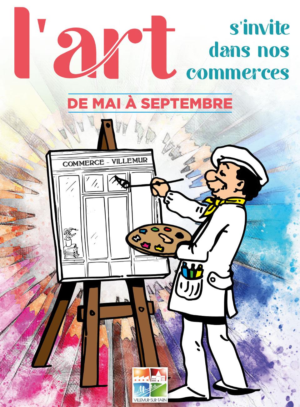«L'art s'invite dans nos commerces»: c'est parti!