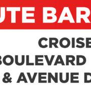 ROUTE BARRÉE 14 OCTOBRE – Boulevard de Bifranc & Ave. du Quercy