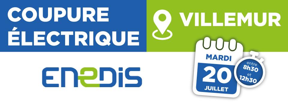 Coupure électrique 20/07/2021 – Villemur