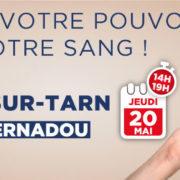 DON DE SANG I jeudi 20 mai 2021 I Salle Bernadou
