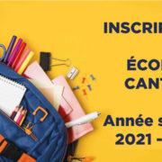 Rentrée 2021-2022 : les dossiers d'inscription à l'école et à la cantine sont en ligne