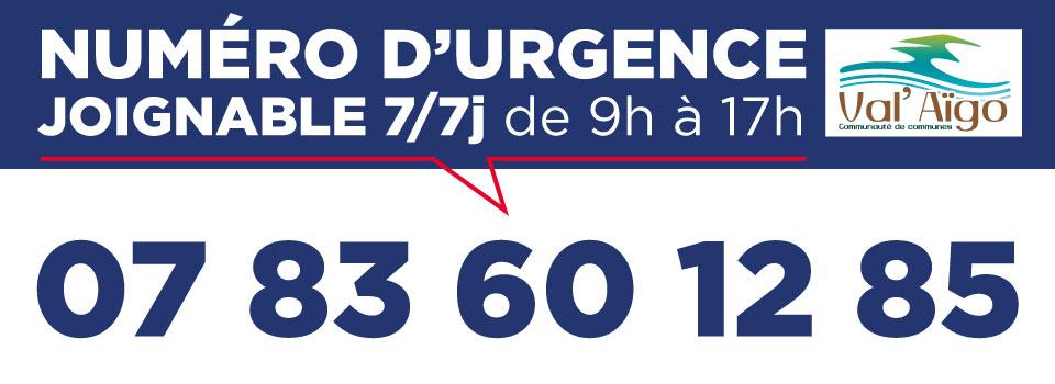 COVID-19 – NUMERO D'URGENCE VAL'AÏGO